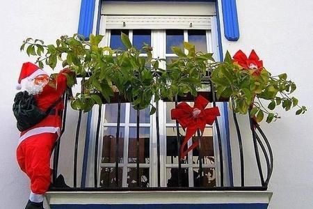 Idea Para Decorar Tu Balcon En Navidad