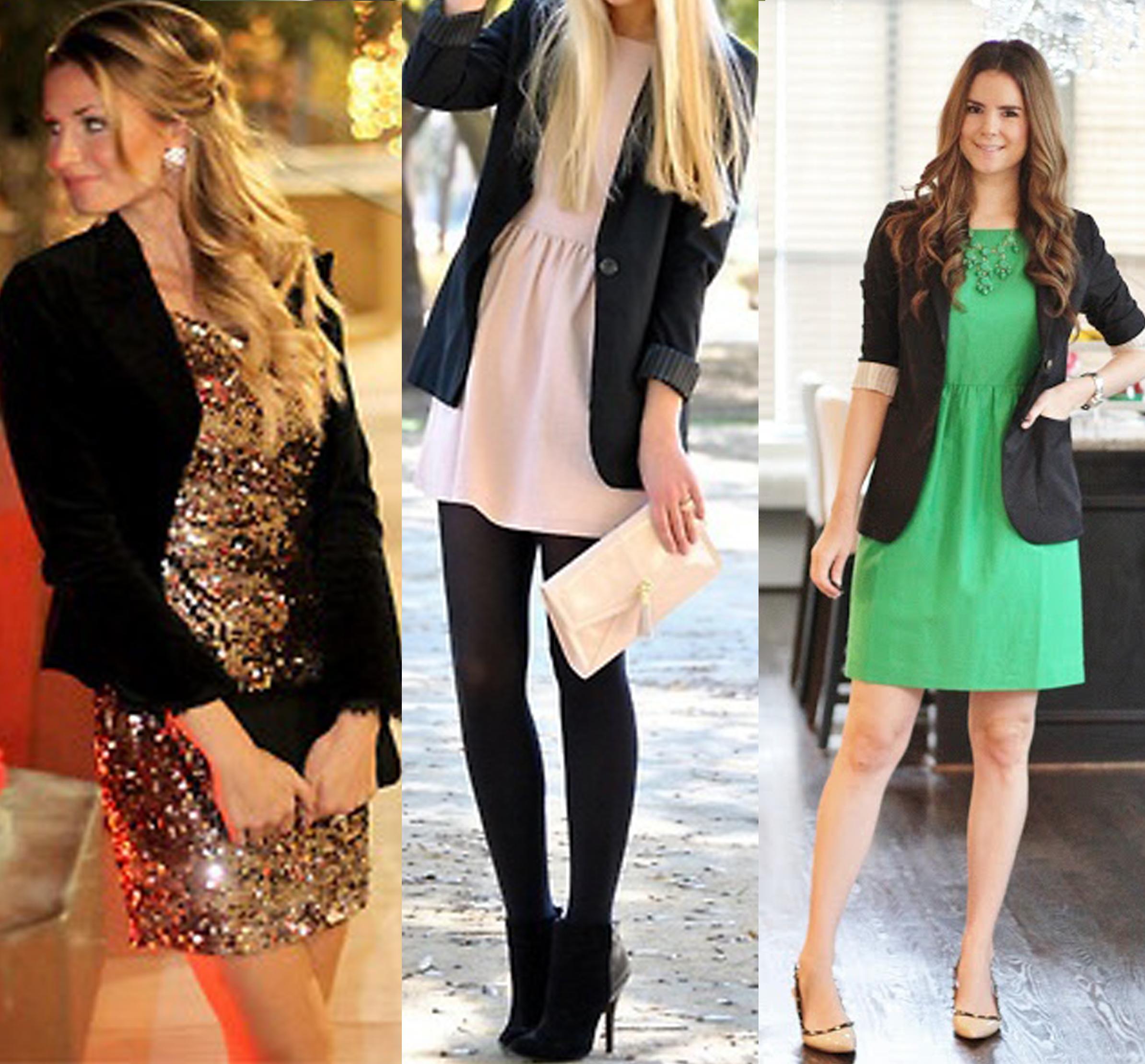 Blazer de mujer con vestido