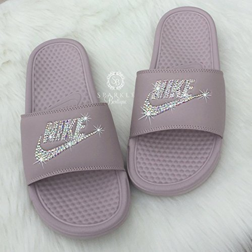 Swarovski Nike Slides – Nike Slip On Shoes For Women Rose Color NIKE ... 76f55a3c3