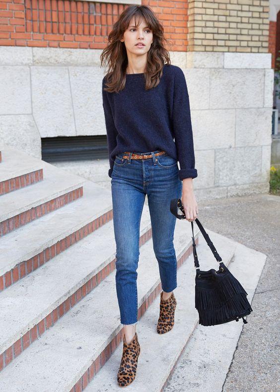 Vestido de jeans con botines